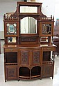 VICTORIAN CARVED MAHOGANY SIDEBOARD, English, late