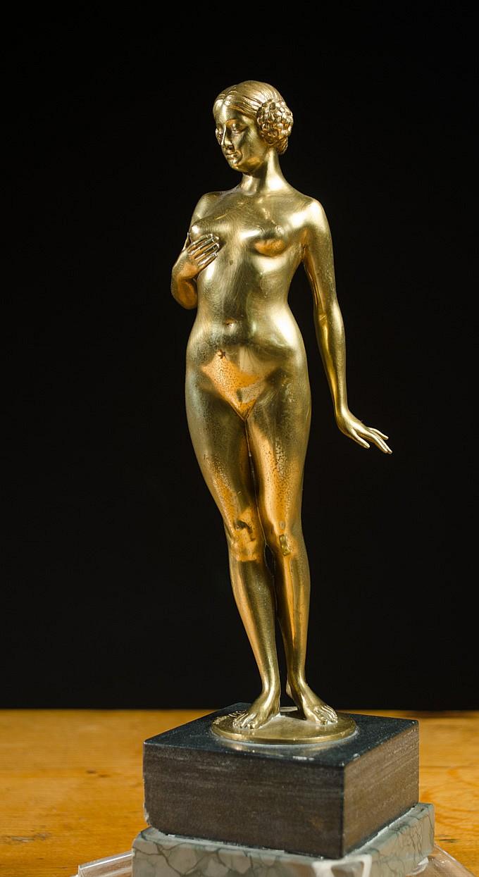 EUGENE WAGNER (GERMAN, 1871-1942) DORE BRONZE FIGU
