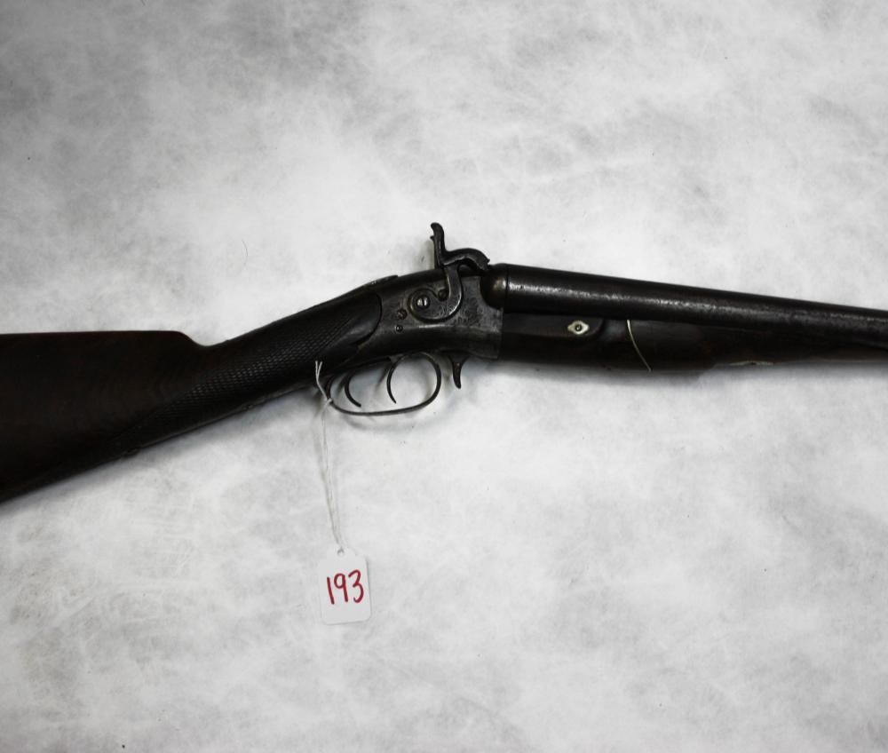 WHITNEY ARMS COMPANY THREE TRIGGER SXS SHOTGUN, 12