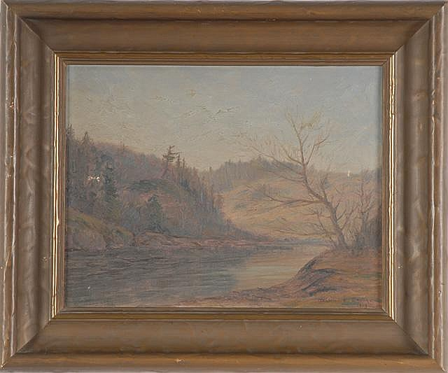 MELVILLE T. WIRE OIL ON CANVAS (Oregon 1877-1966)