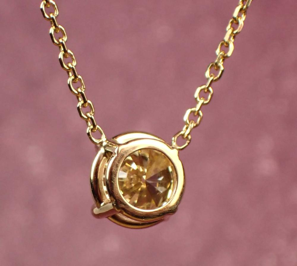 NATURAL FANCY YELLOW DIAMOND NECKLACE WITH GIA REP