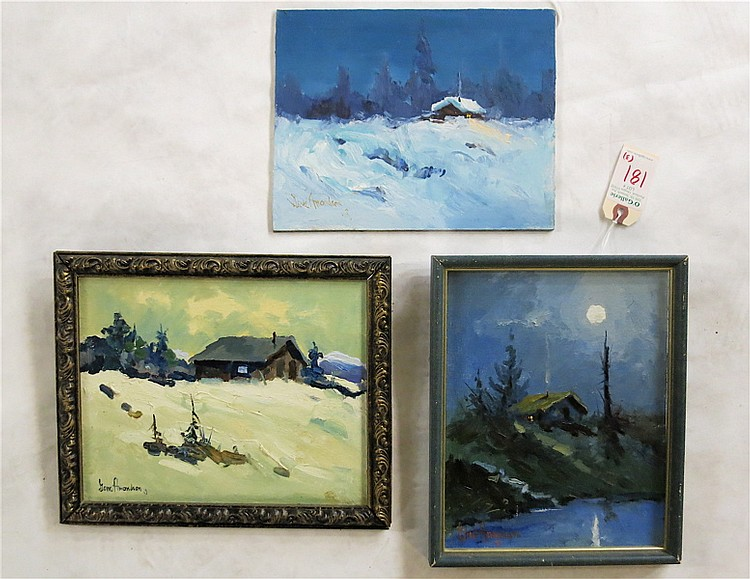 GENE AMONDSON, THREE OILS ON BOARD (Washington,  1