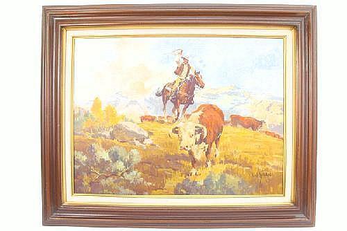 NEWMAN MYRAH (Canadian, born 1921) Oil on canvas