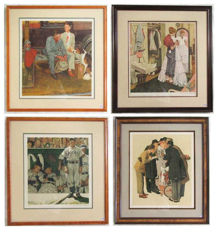 SIXTEEN NORMAN ROCKWELL LITHOGRAPHS