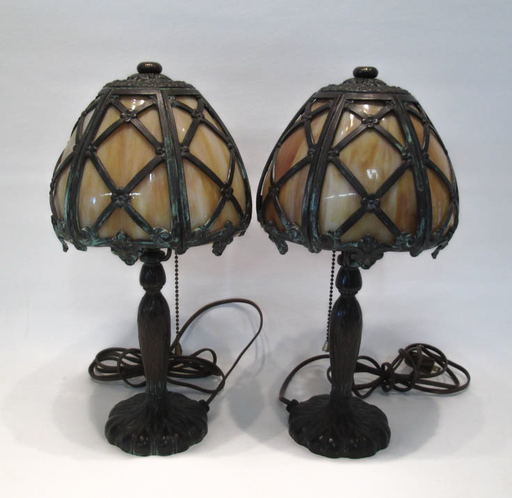 PAIR OF PAIRPOINT BOUDOIR LAMPS