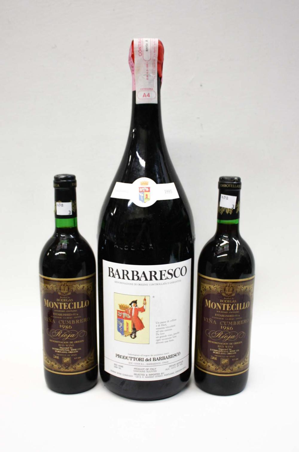THREE BOTTLES OF VINTAGE ITALIAN RED WINE: 1995 P