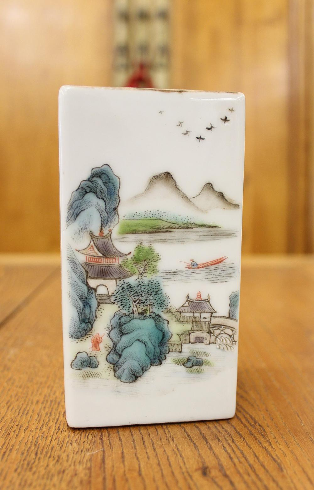 COLLECTION OF TEN CHINESE PORCELAIN ITEMS