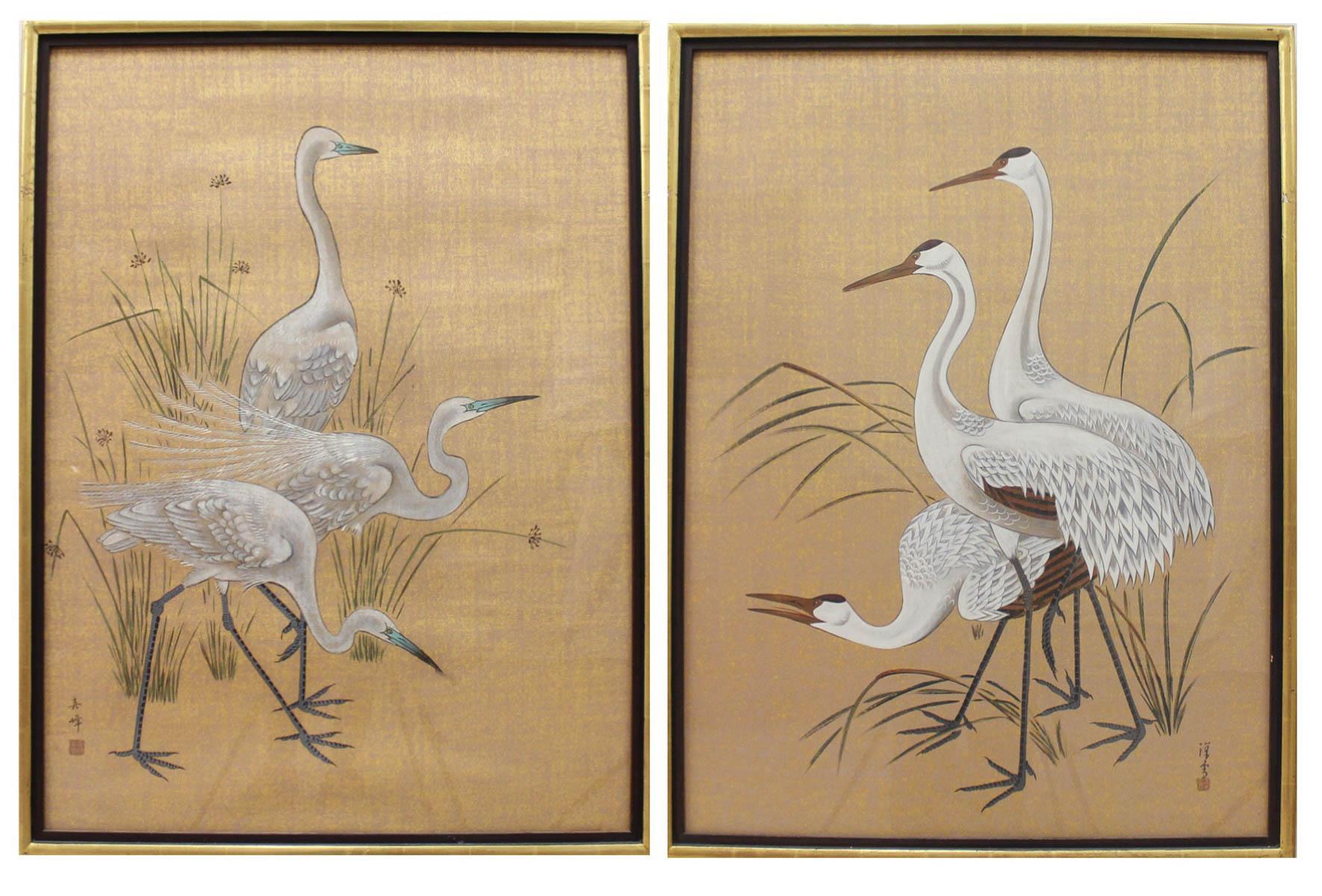 MI CHOU (China, 20th century) two temperas on pape