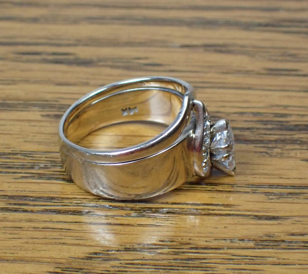 ESTATE DIAMOND AND WHITE GOLD RING