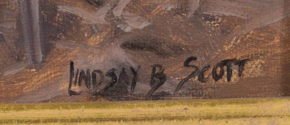 LINDSAY B. SCOTT OIL ON CANVAS