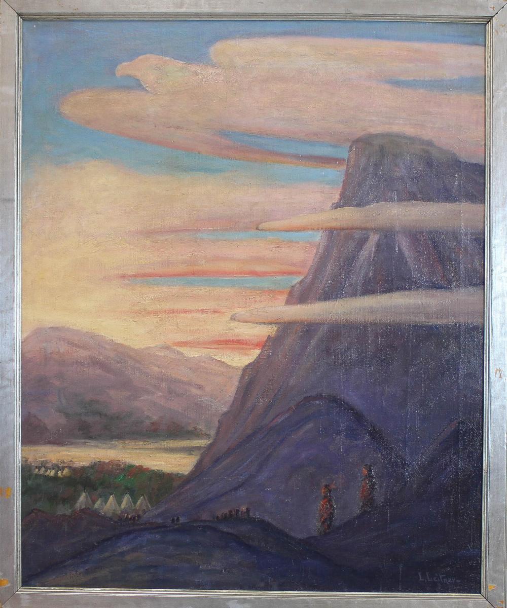 Lot - LEANDER LEITNER (New York/Delaware, 1873-1961) oil