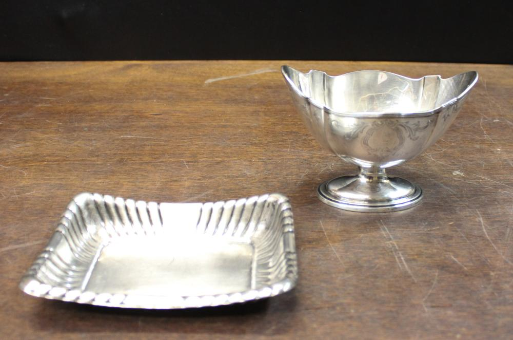 TWO STERLING SILVER HOLLOWWARE PIECES