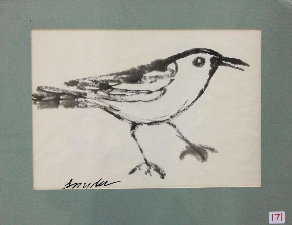 AMANDA TESTER SNYDER INK WASH ON PAPER