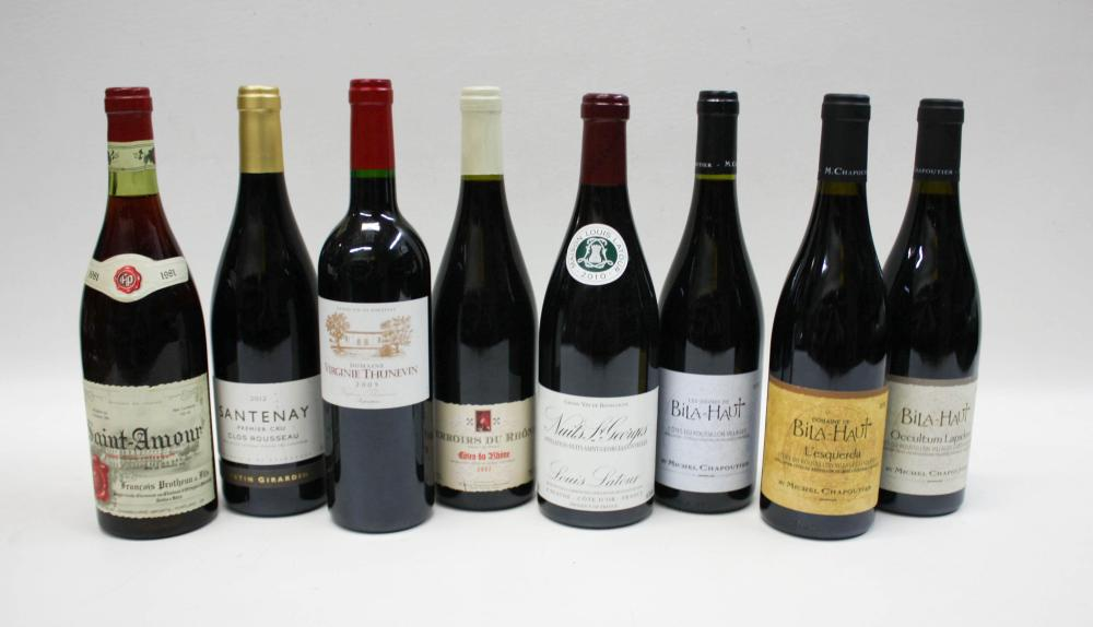 TWENTY-FOUR BOTTLES OF VINTAGE FRENCH RED WINES
