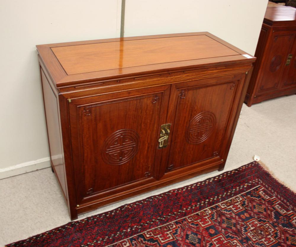 CHINESE ROSEWOOD STEREO CABINET