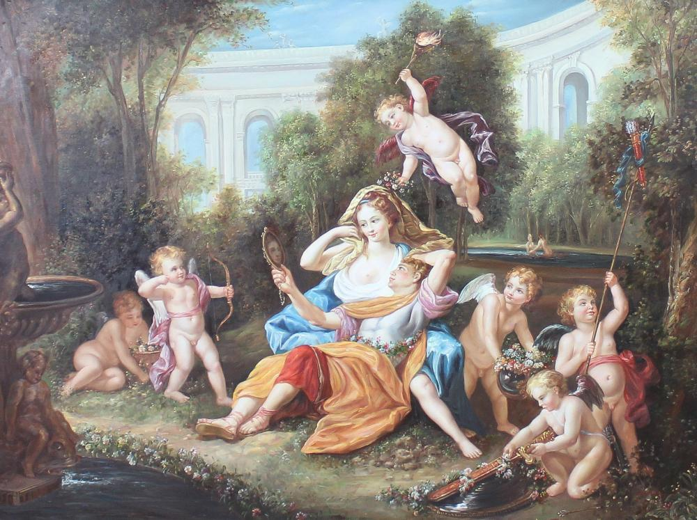 LARGE ALLEGORICAL PAINTING