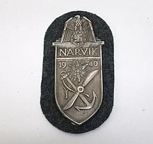 GERMAN WORLD WAR TWO NARVIK SHIELD, army gray