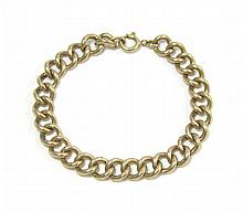 MAN'S FOURTEEN KARAT GOLD CHAIN BRACELET,