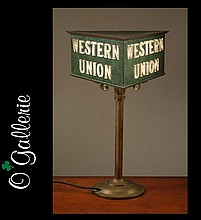 WESTERN UNION TABLE LAMP, made by Viking Products