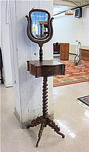VICTORIAN WALNUT SHAVING STAND, American, 19th