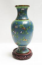 CHINESE CLOISONNE VASE having copper cloisons and