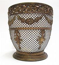 FRENCH LOUIS STYLE JARDINIERE with brass net