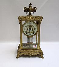 AN AMERICAN CRYSTAL REGULATOR MANTEL CLOCK,