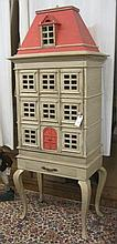 PROVINCIAL STYLE 'DOLLHOUSE' CABINET ON STAND,