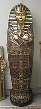 A KING TUTANKHAMEN LIFE-SIZE SARCOPHAGUS CABINET,