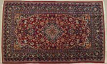 SEMI-ANTIQUE PERSIAN KASHAN AREA RUG, Isfahan