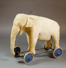 VINTAGE STEIFF RIDING ELEPHANT, Steiff Co., German