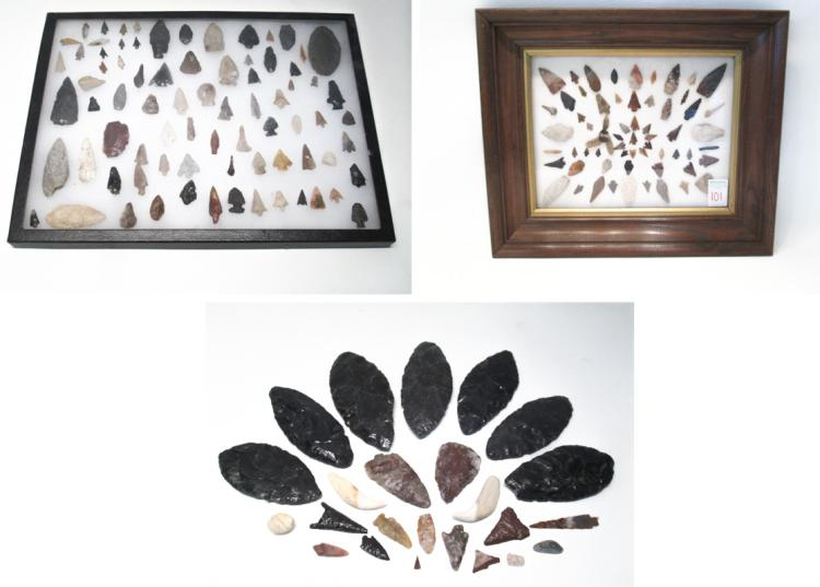 COLLECTION OF NORTHWEST NATIVE AMERICAN ARROW POIN