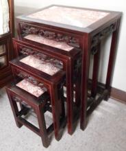 FOUR-PIECE NESTING TABLE SET, Chinese, 20th centur