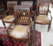 A SET OF FOUR MAHOGANY ARMCHAIRS, Bernhardt Furnit