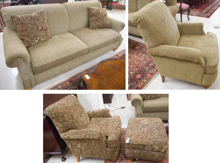 FOUR-PIECE UPHOLSTERED SEATING FURNITURE GROUP, Fl