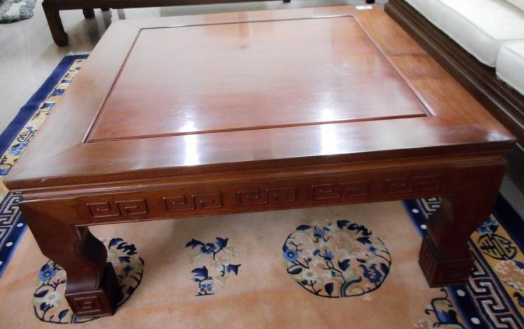 CHINESE ROSEWOOD COFFEE TABLE, Hong Kong, mid-20th
