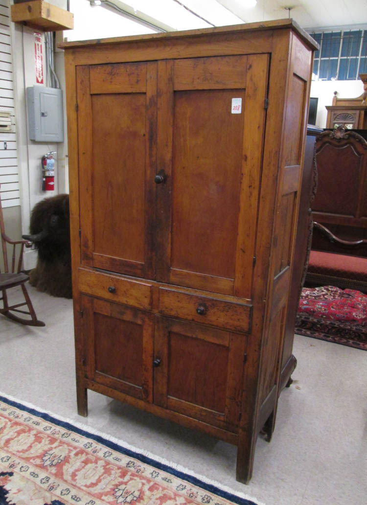 COUNTRY KITCHEN CUPBOARD, American, late 19th cent