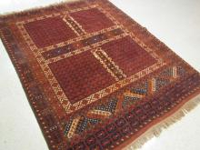 AFGHAN TURKOMAN ENSI CARPET, hand knotted in a fou