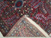 THREE SEMI-ANTIQUE PERSIAN MATS, similar hand knot