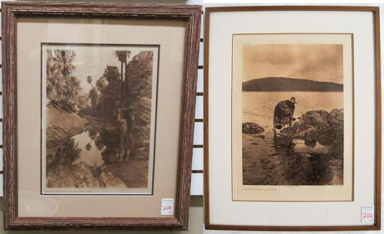 EDWARD CURTIS, TWO PHOTOGRAVURES (Washington/Calif