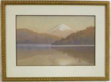 CHIBA WATERCOLOR ON PAPER (Japan, 20th century) La