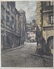 LUIGI KASIMIR ETCHING AND AQUATINT (Austria, 1881-