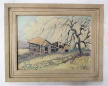 WILLIAM H. WATSON, M.D. OIL ON PANEL (Oregon, born