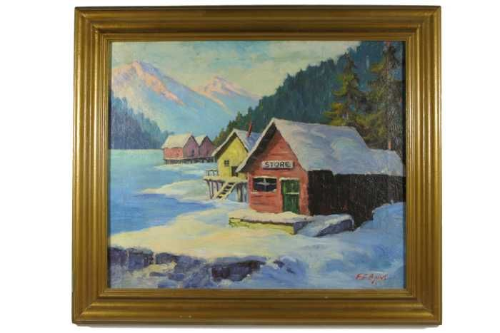 FRANK E. BINNS OIL ON CANVAS (Seattle, Washington,
