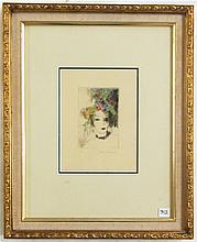 MARIE LAURENCIN ETCHING (France/Spain, 1883-1956)