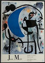 ADVERTISEMENT POSTER:  AFTER JOAN MIRO (Spain/Fran