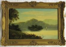 M. WILLS OIL ON BOARD (American, early 20th centur