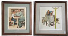 TWO NORMAN ROCKWELL LITHOGRAPHS ON ARCHES PAPER (N