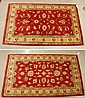 A PAIR OF HAND KNOTTED ORIENTAL AREA RUGS,