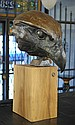 DAN CHOW ORIGINAL BRONZE SCULPTURE, an eagle head